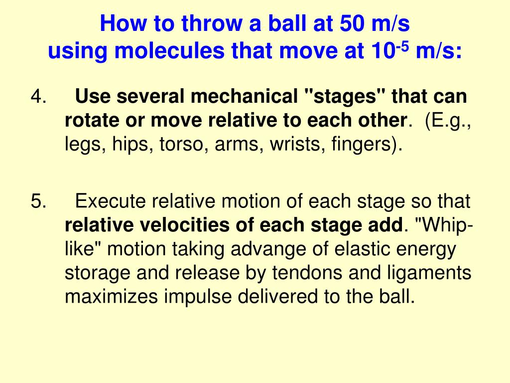 How to throw a ball at 50 m/s