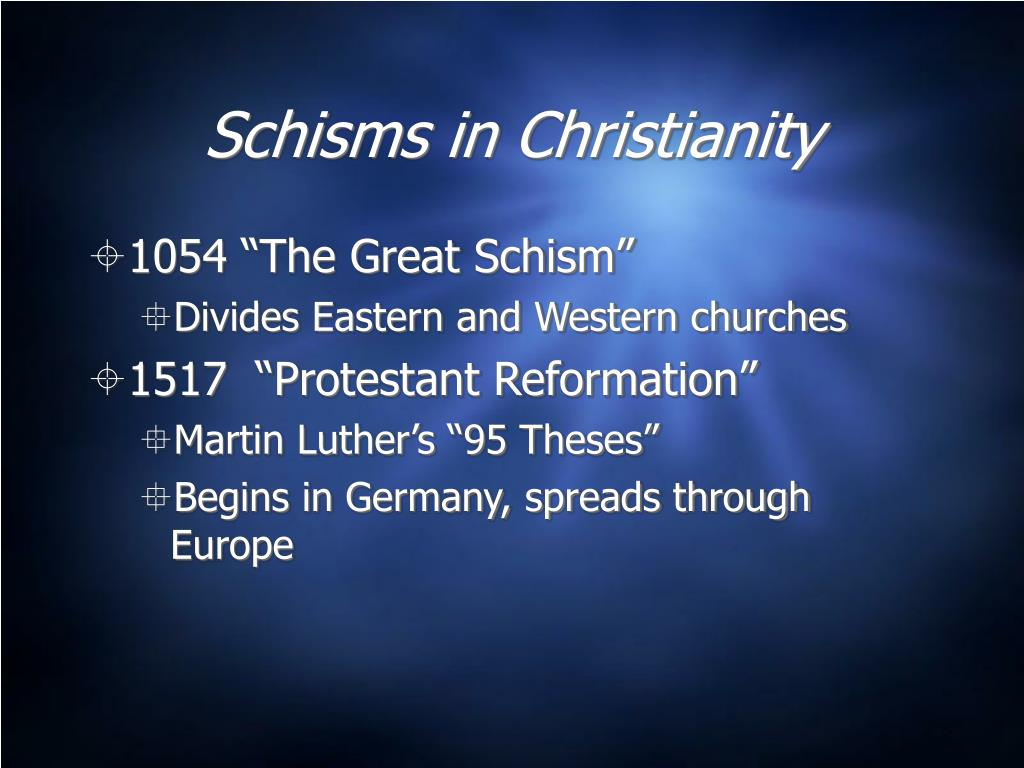 Schisms in Christianity