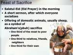 feast of sacrifice