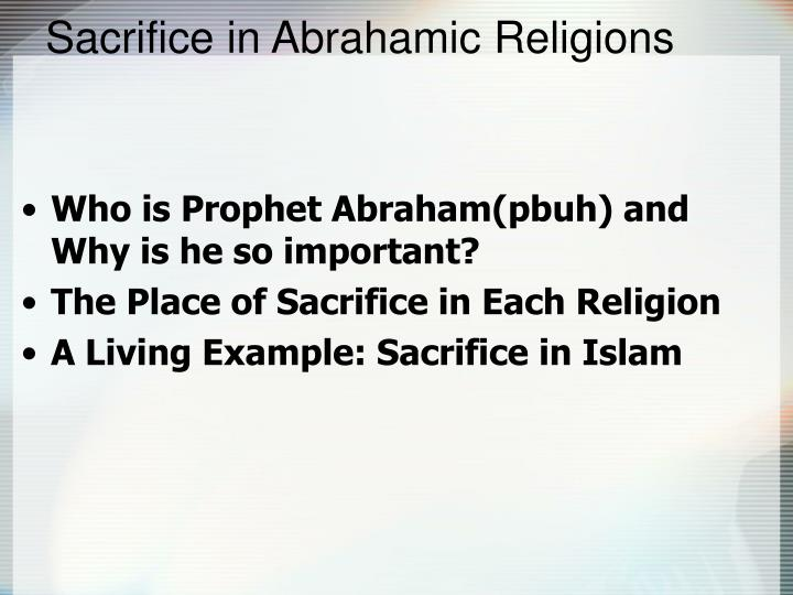 Sacrifice in Abrahamic Religions