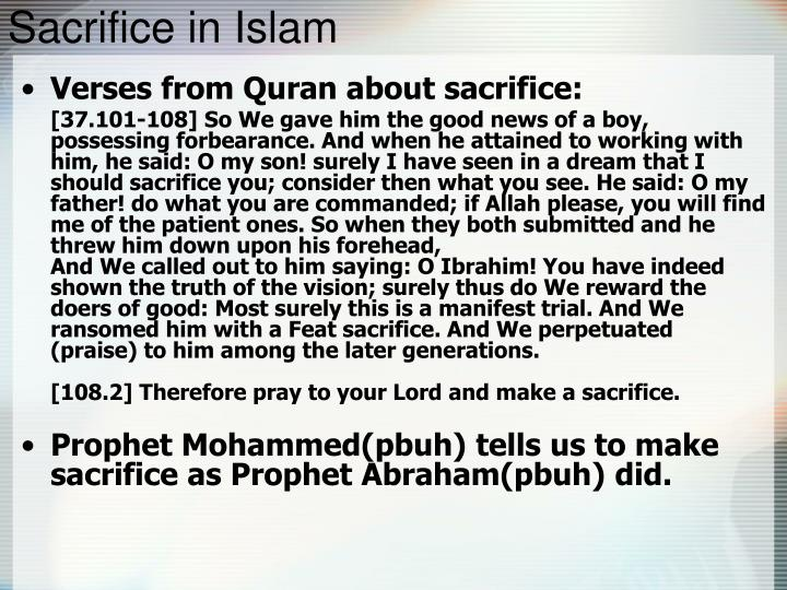 Sacrifice in Islam