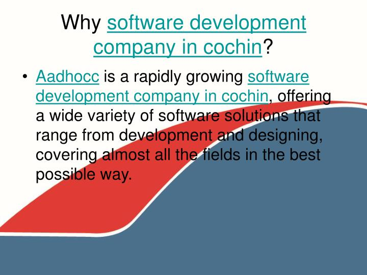 Why software development company in cochin