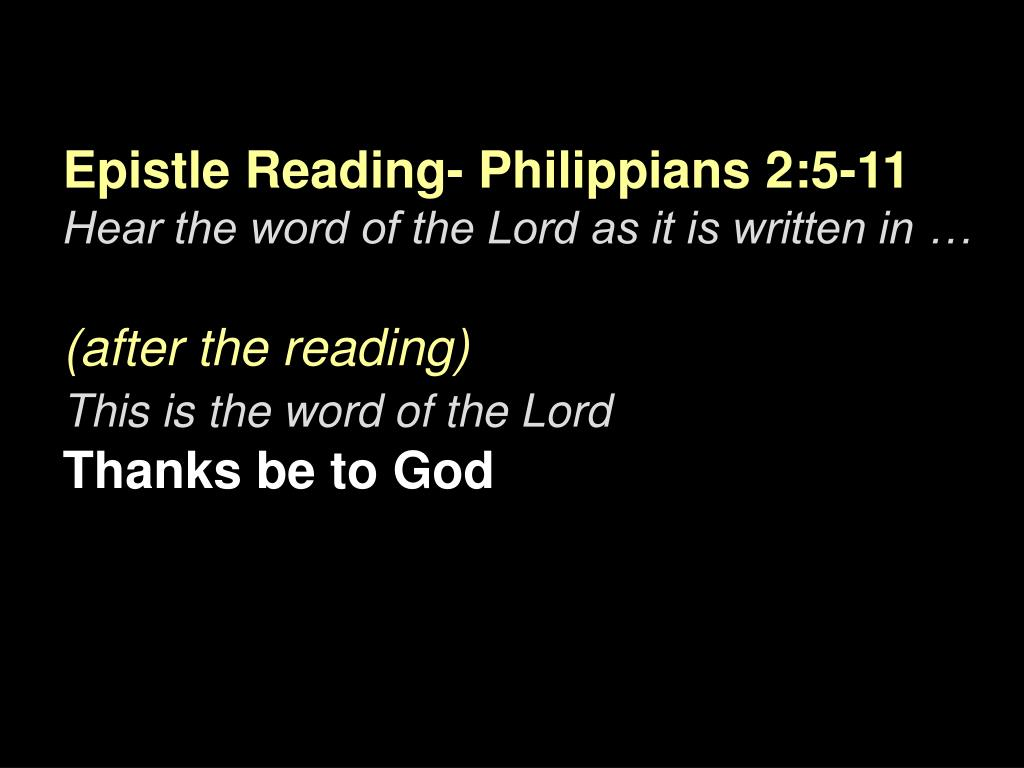 Epistle Reading-