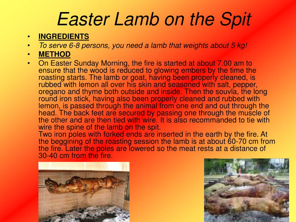 Easter Lamb on the Spit