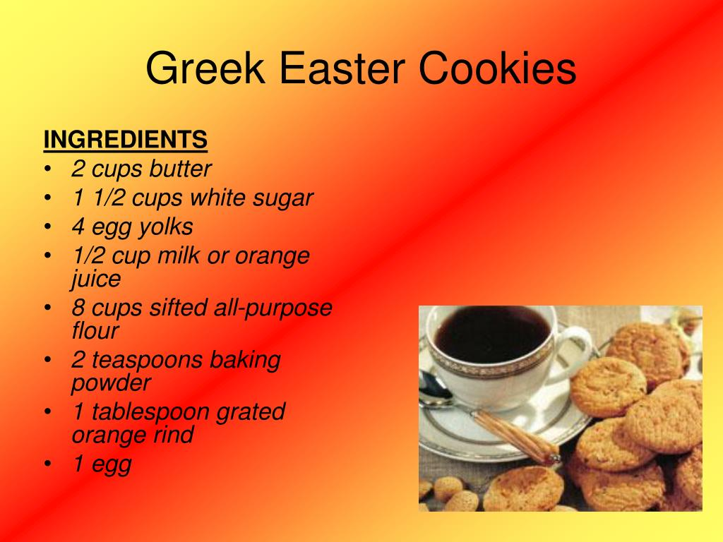 Greek Easter Cookies