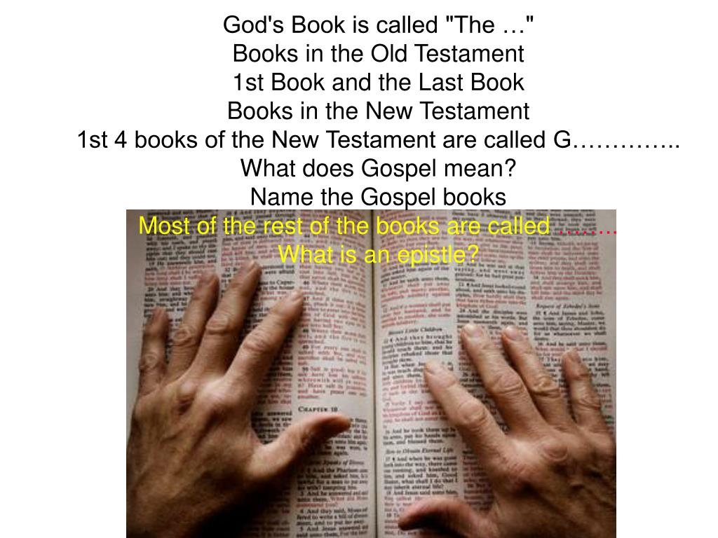 "God's Book is called ""The …"""