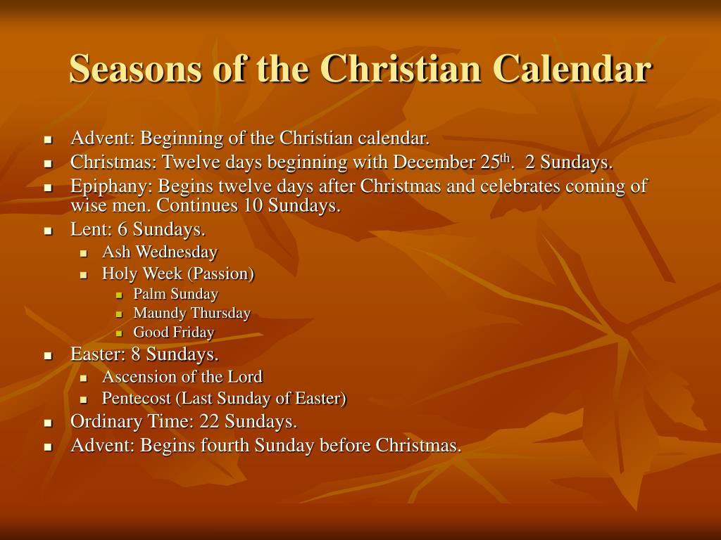 Seasons of the Christian Calendar