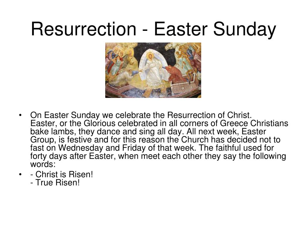 Resurrection - Easter Sunday