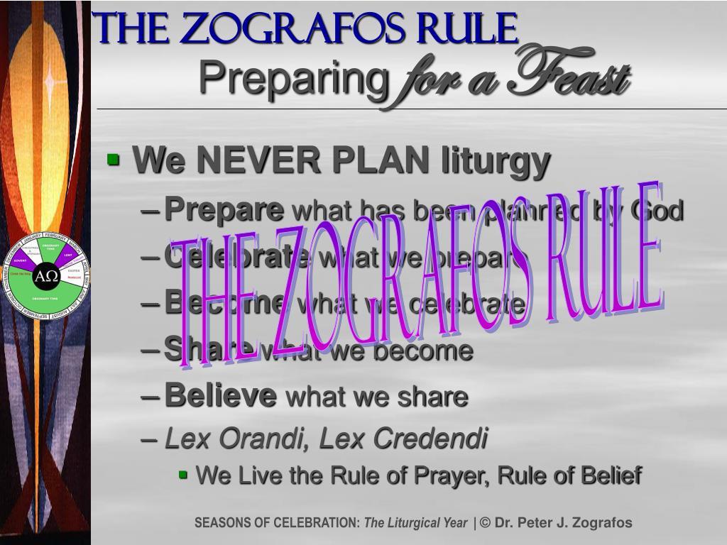 The Zografos Rule