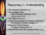 resources for understanding