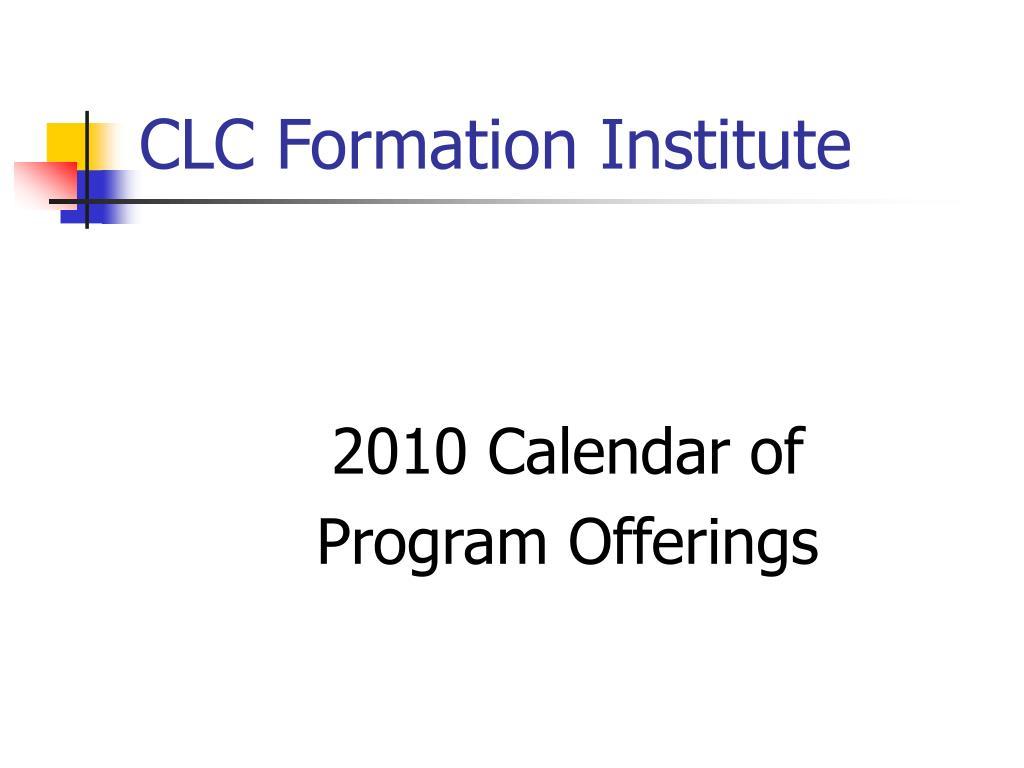 CLC Formation Institute