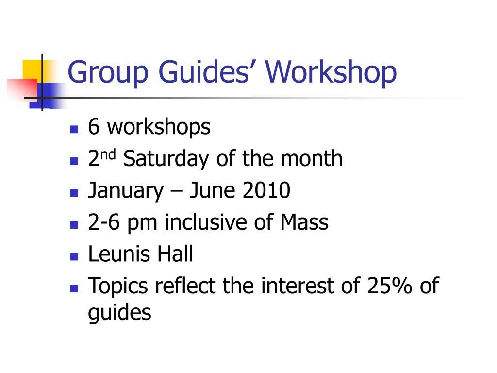 Group Guides' Workshop
