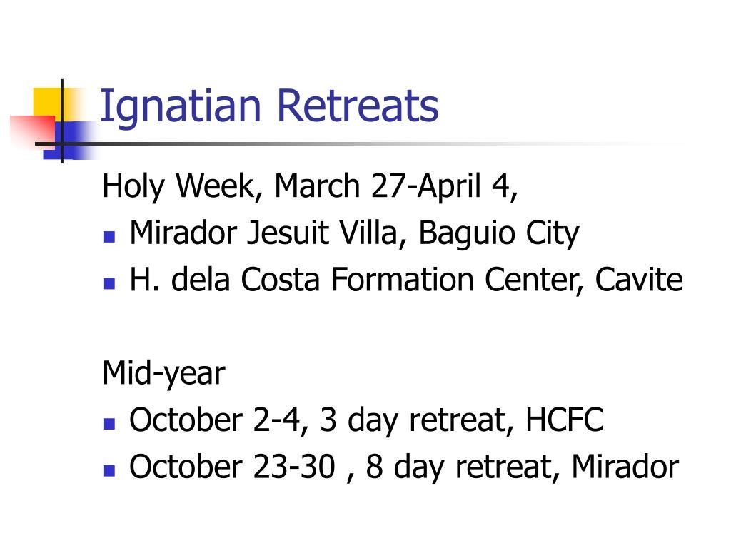 Ignatian Retreats
