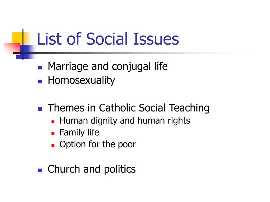 List of Social Issues