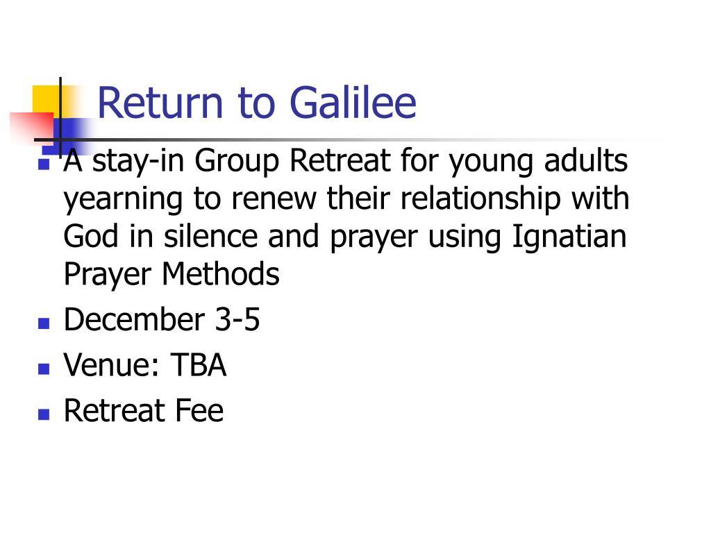 Return to Galilee