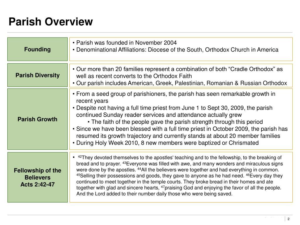 Parish Overview