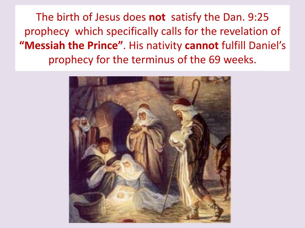 The birth of Jesus does
