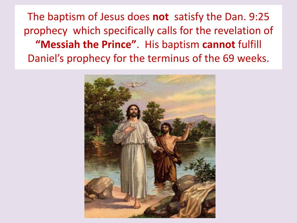The baptism of Jesus does