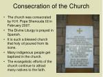 consecration of the church