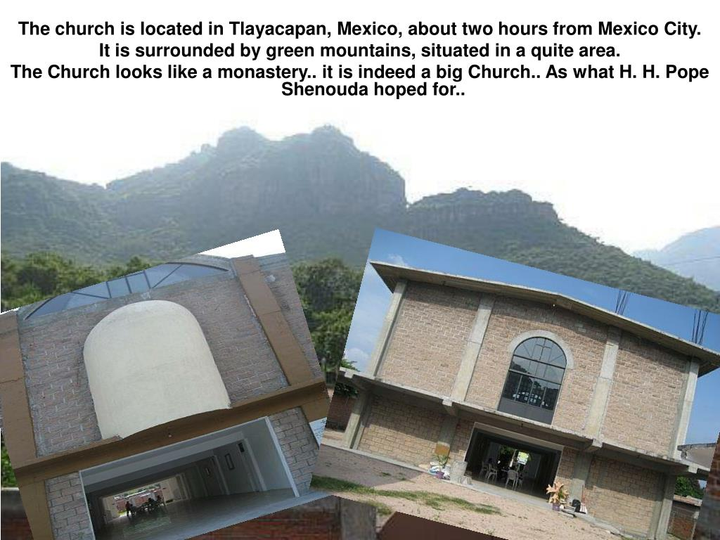 The church is located in Tlayacapan, Mexico, about two hours from Mexico City.