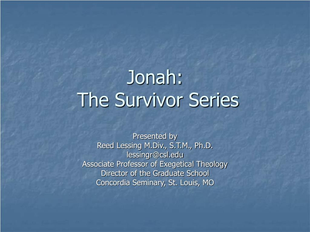 Jonah: