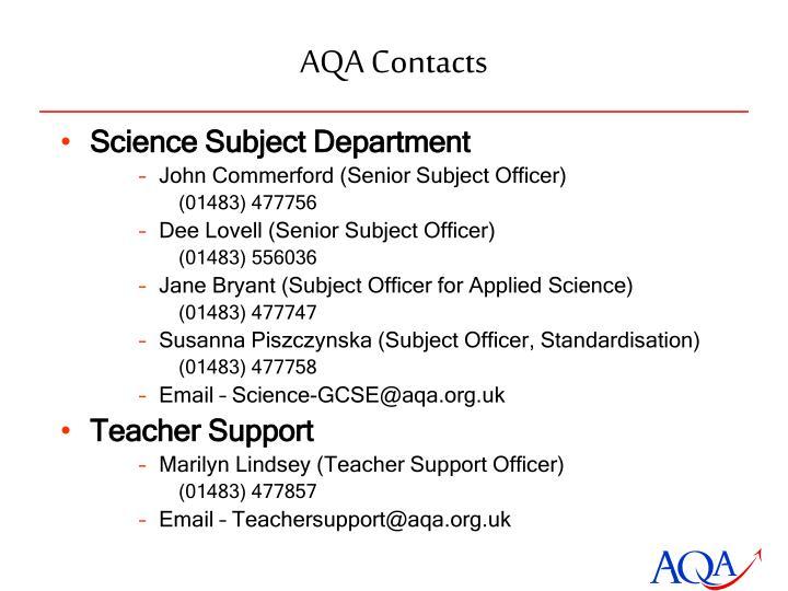 AQA Contacts