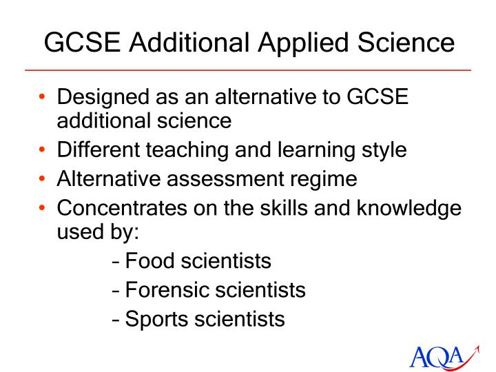 GCSE Additional Applied Science