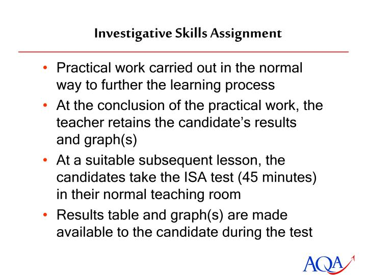 Investigative Skills Assignment
