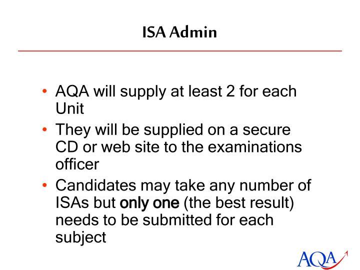 ISA Admin