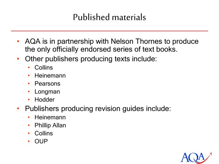 Published materials