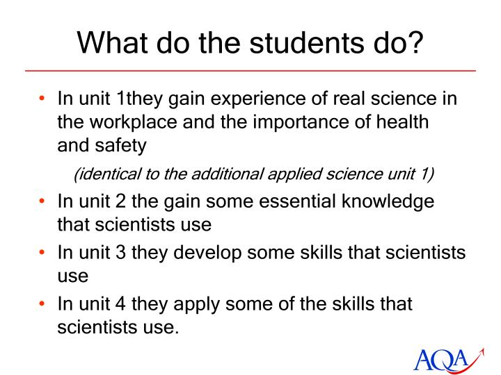 What do the students do?