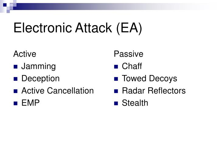 Electronic attack ea