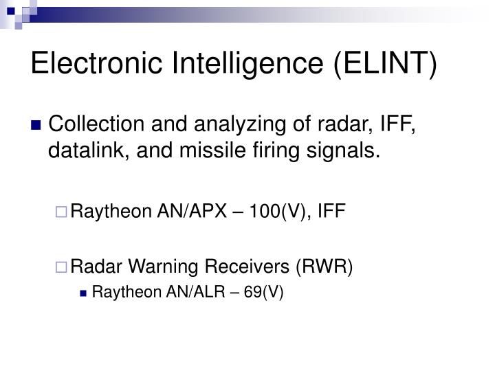 Electronic Intelligence (ELINT)