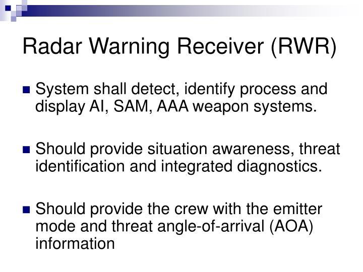 Radar Warning Receiver (RWR)
