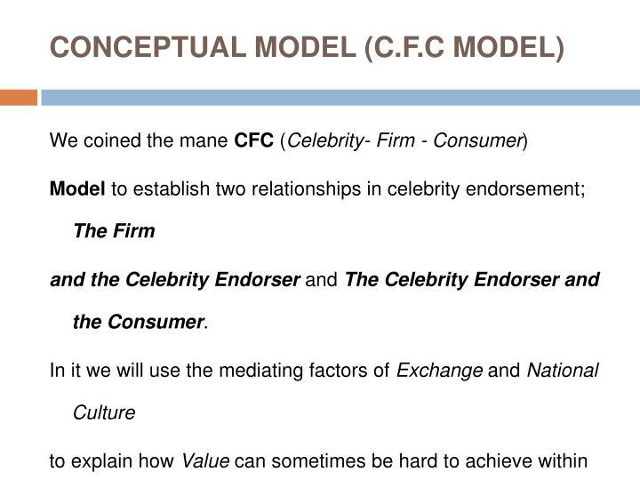 CONCEPTUAL MODEL (C.F.C MODEL)