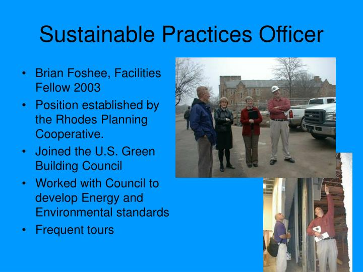 Sustainable Practices Officer