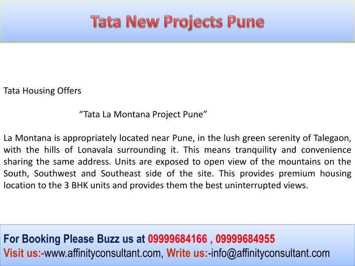 Tata New Projects Pune