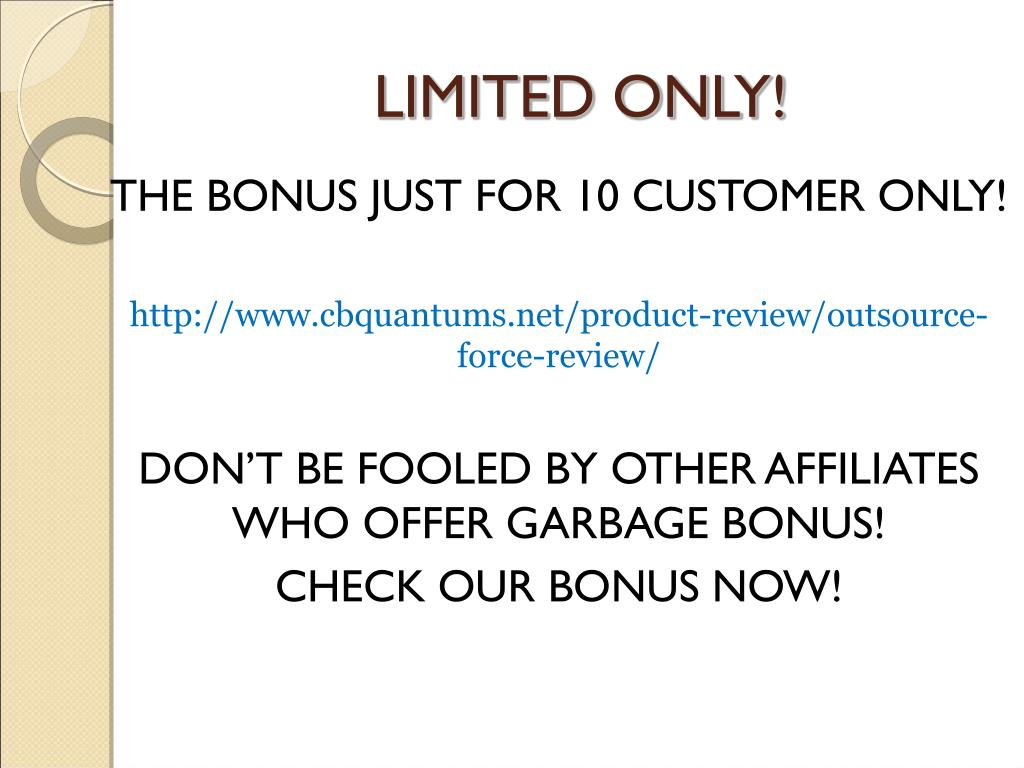 LIMITED ONLY!