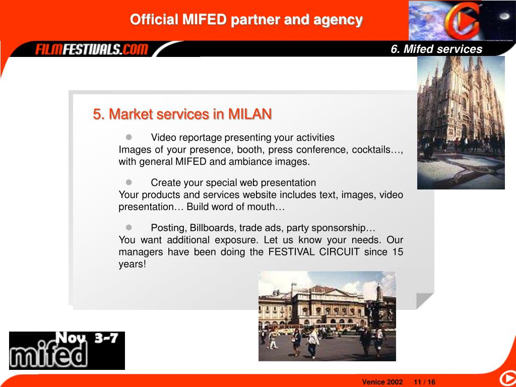 6. Mifed services