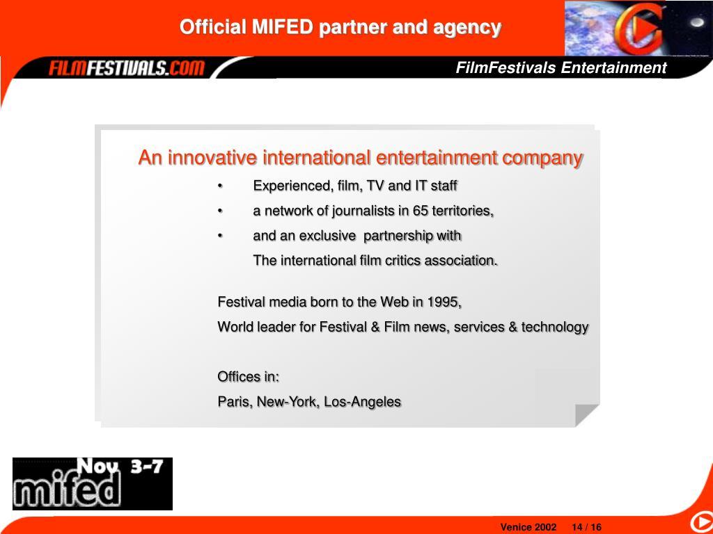 FilmFestivals Entertainment