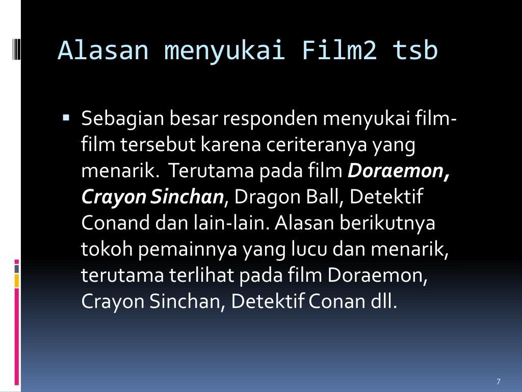 Alasan menyukai Film2 tsb