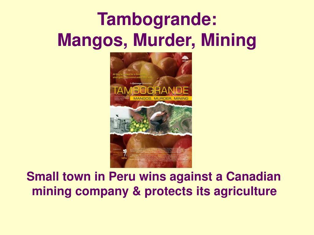 Tambogrande: