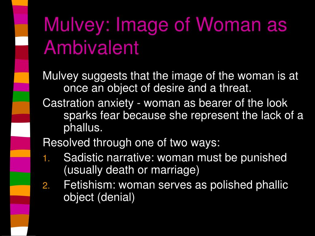 Mulvey: Image of Woman as Ambivalent