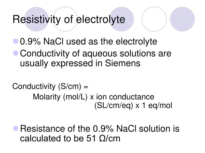 Conductivity (electrolytic)