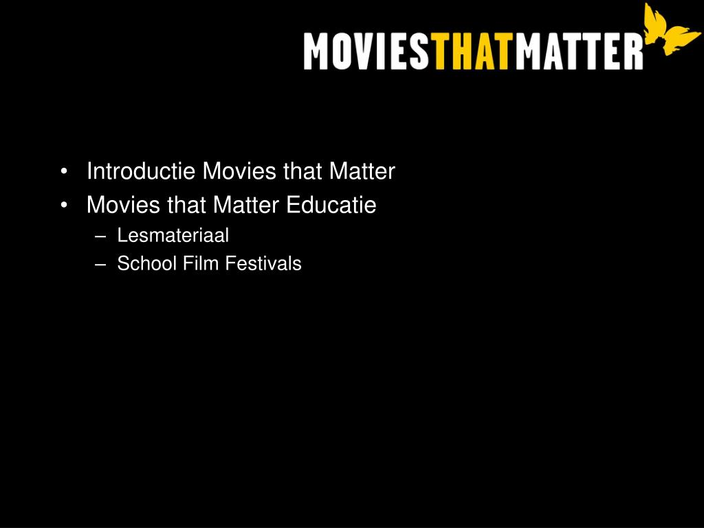 Introductie Movies that Matter