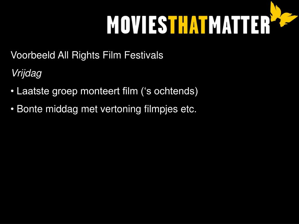 Voorbeeld All Rights Film Festivals