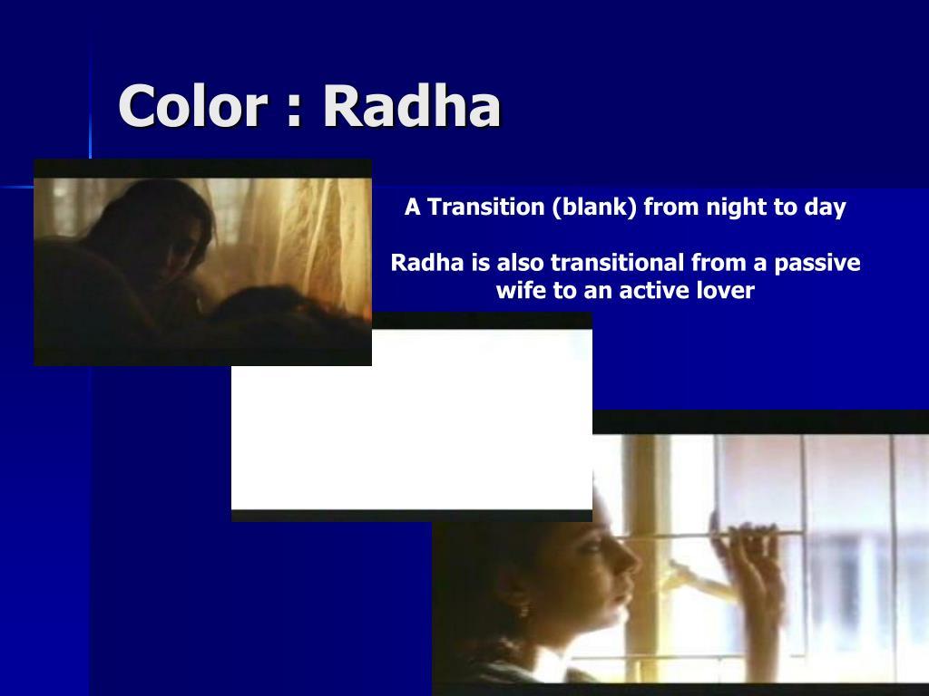 Color : Radha