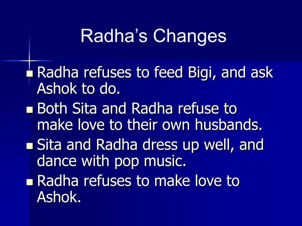 Radha's Changes