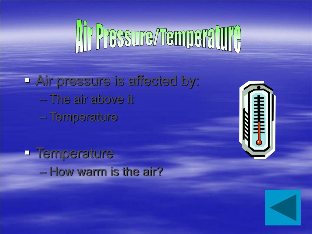Air Pressure/Temperature
