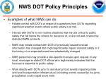 nws dot policy principles10